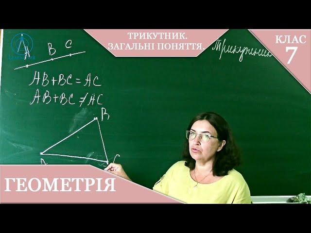 7 клас. Геометрія. Трикутник. Загальні поняття.