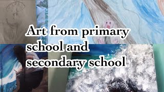 ART TOUR: sketch books and art work from primary school and secondary school