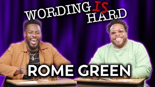Rome Green VS Tahir Moore - Wording is HARD