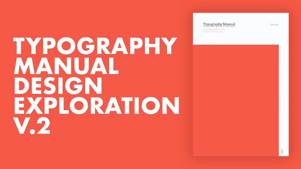 Typography Manual Cover Design Process Pt2 Speed