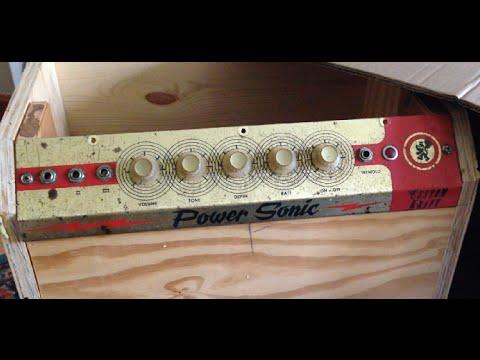1966 Custom Kraft Power Sonic 6V6 Tube Amp Service (PART 1)