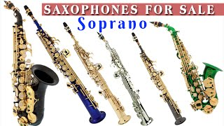 Soprano saxophone for sale - curved and straight