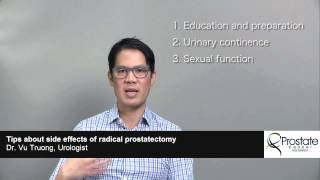 Tips about side effects of radical prostatectomy - Dr. Vu Truong