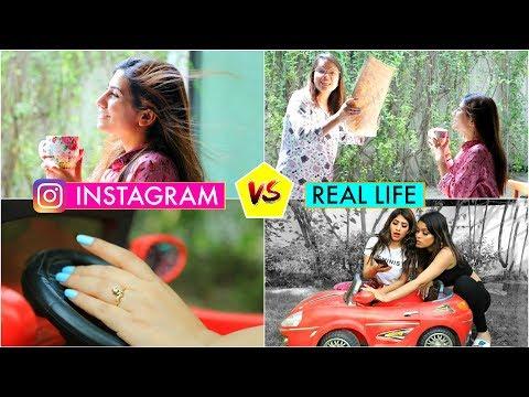 instagram-vs-real-life- -hacks-for-taking-perfect-photos- -#teenagers-#ideas-#fashion-#anaysa
