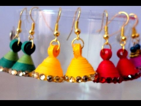 Quilling Jhumka Earrings Making