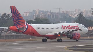 Top 10 Airlines - Very fast taxi and takeoff by Indian Airlines Airbus A319