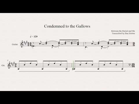 (Transcription) Between the Buried and Me - Condemned to the Gallows