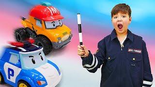 Развивающие игры детям. Машины робокары на экзамене! Познавательные истории для мальчиков
