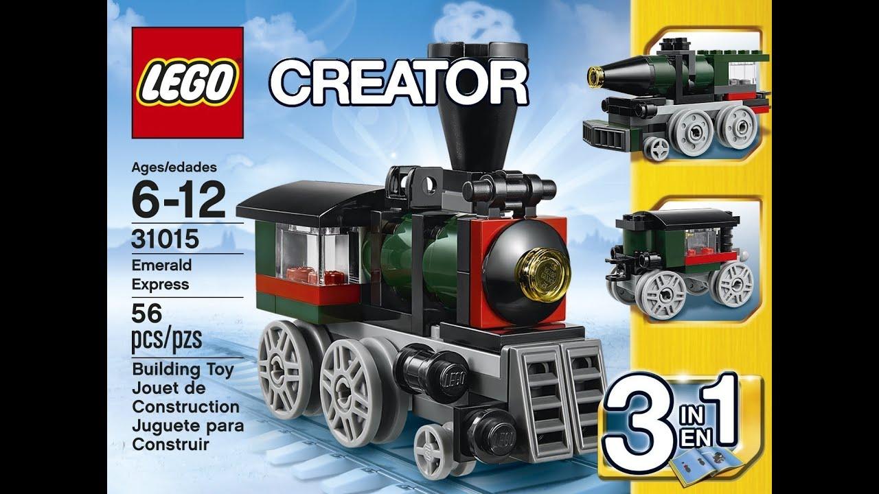 lego creator 31015 emerald express 1 of 3 manual speed. Black Bedroom Furniture Sets. Home Design Ideas