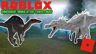 Roblox Dinosaur Simulator Christmas - New Albino Terror And Movie Spinosaurus Animations