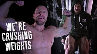CRUSHIN' WEIGHTS Rap Song Featuring Marc Lobliner and Lance Schilling  | Tiger Fitness