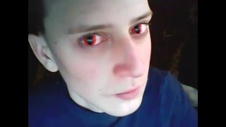 Цветные линзы)Красный кошачий глаз