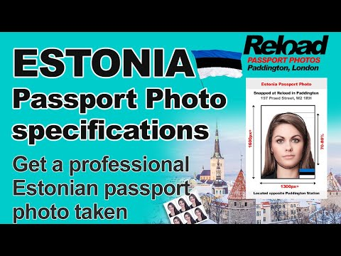 Get your Estonian Passport Photo or Visa Photo snapped instantly in Paddington, London