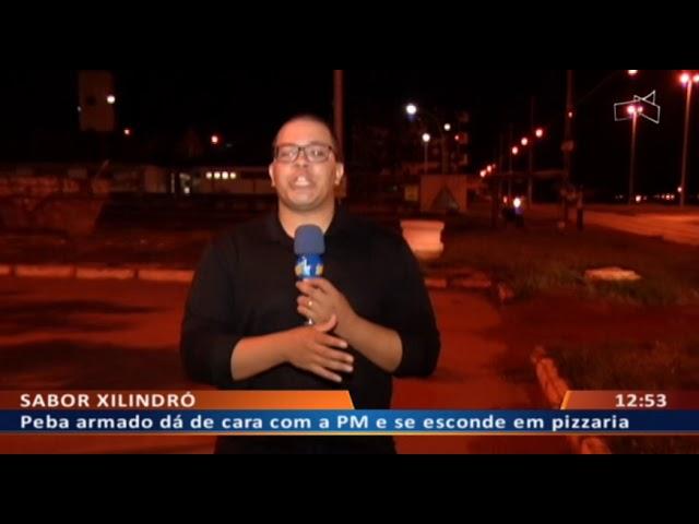 DF ALERTA - Peba armado dá de cara com a PM e se esconde em pizzaria