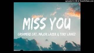 Cashmere Cat & Major Lazer & Tory Lanez - Miss-You (Studio Acapella)