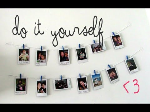 diy hanging picture display - How To Hang Photos