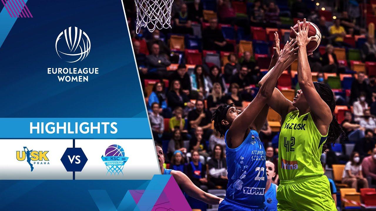 ZVVZ USK Praha - KSC Szekszard | Highlights | EuroLeague Women 2021/22