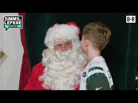 Jets QB Sam Darnold Goes Undercover as a Mall Santa | Simms & Lefkoe: The Show