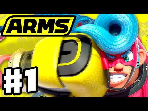 ARMS - Gameplay Walkthrough Part 1 - Spring Man Grand Prix! (Nintendo Switch)