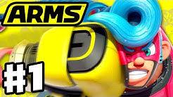 ARMS - Gameplay Walkthrough Part 1 - Spring Man Grand Prix! (Nintendo Switch)