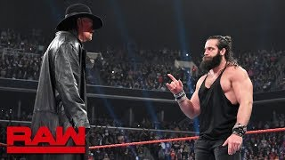"Gambar cover The Undertaker returns to silence ""rapping"" Elias: Raw, April 8, 2019"