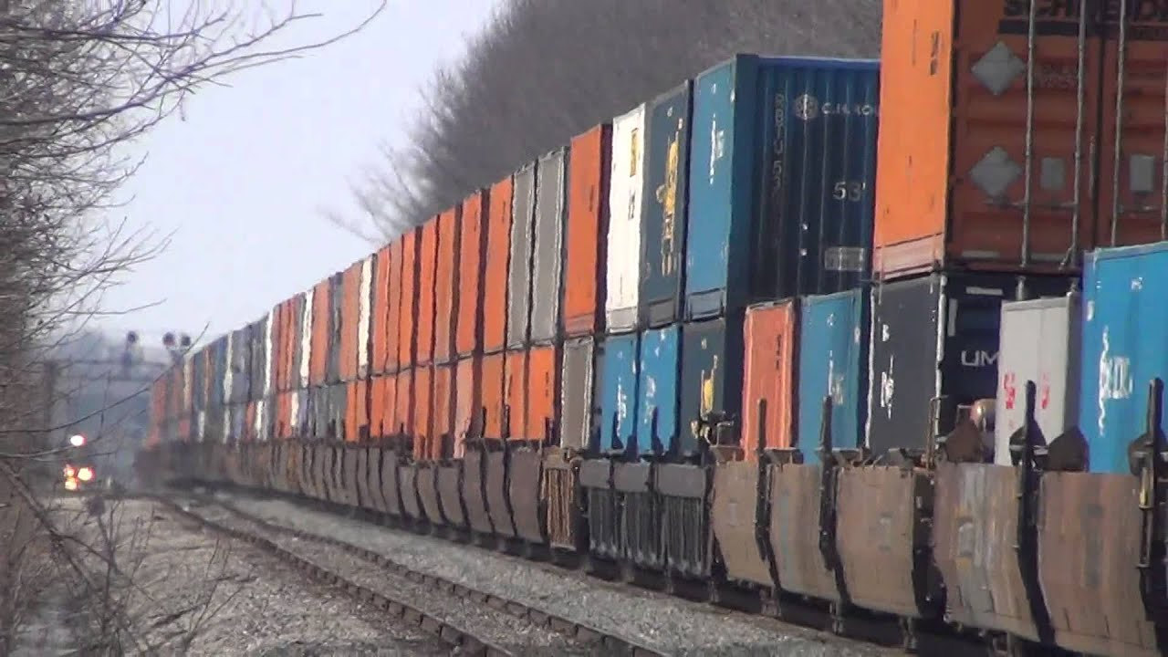 Huge Gigantic Csx Double Stack Train