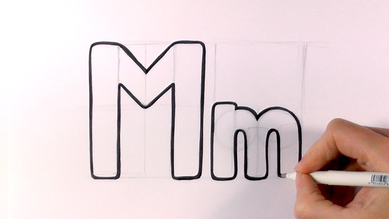 letter m lettering how to draw