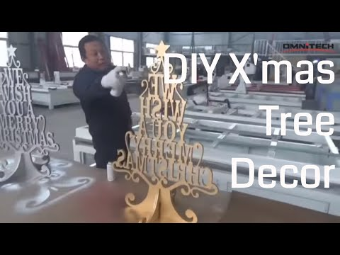 How to Decorate DIY Wooden Christmas Tree with CNC Router Woodworking?
