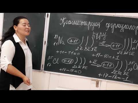 8 сынып Қосылыстардың формуласын құру