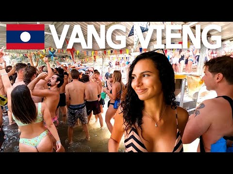 VANG VIENG RIVER RAVE! TRAVEL LAOS 🇱🇦