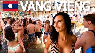 VANG VIENG RIVER RAVE! TRAVEL LAOS 🇱🇦