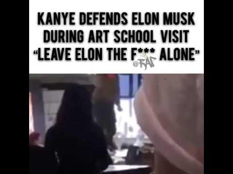 Kanye West defends Elon Musk during art school visit! (Must watch!!!) Mp3