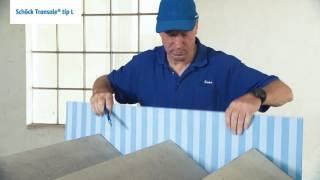 Prikaz vgradnje elementov Schöck Tronsole® Tipov F, B, L