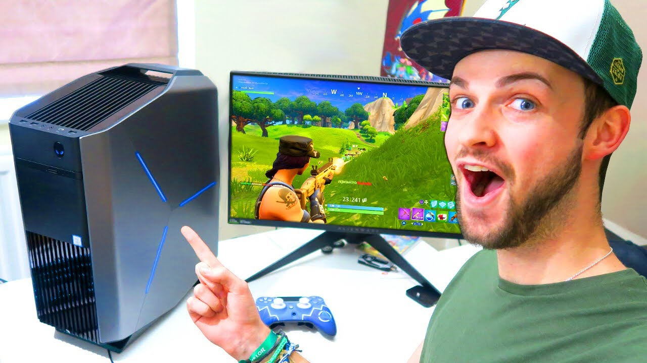 Ali A S First Game Of Fortnite Battle Royale On Pc Youtube