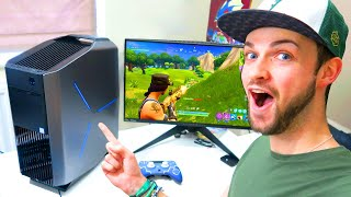 "Ali-A""s FIRST GAME of Fortnite: Battle Royale... on PC!"