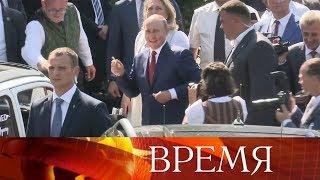 Владимир Путин в качестве гостя посетил свадьбу министра иностранных дел Австрии Карин Кнайсль.