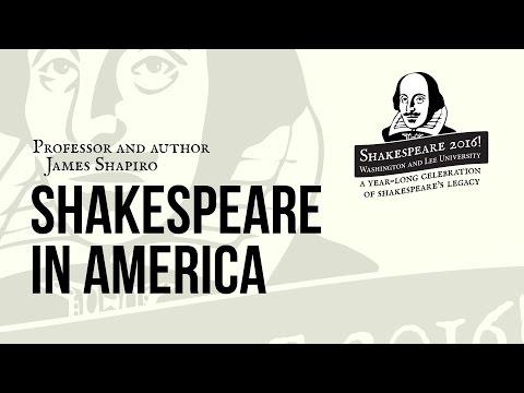 "Shakespeare 2016! with James Shapiro, ""Shakespeare in America"""