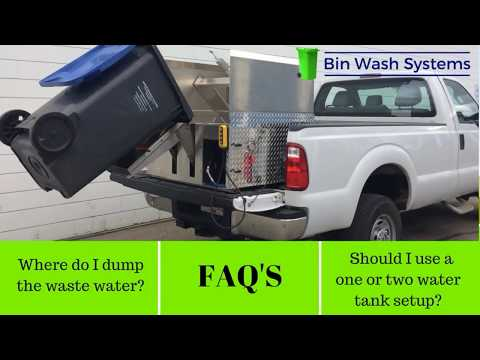 Trash Bin Cleaning Equipment FAQ's #1  - Build Your Own Bin Cleaner With Bin Wash Systems