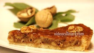 Walnut Caramel Tart Recipe - Pie - VideoCulinary