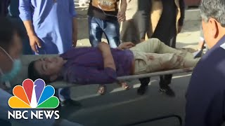 Footage Captures Horror Of Latest Kabul Suicide Blast | NBC News