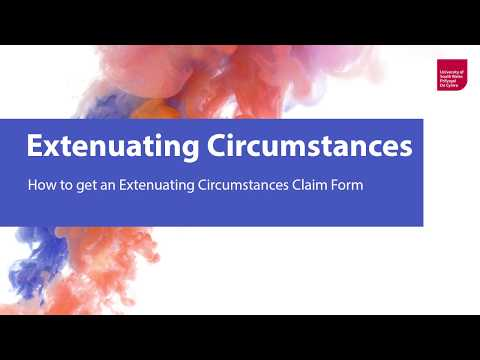 Extenuating Circumstances University Of South Wales