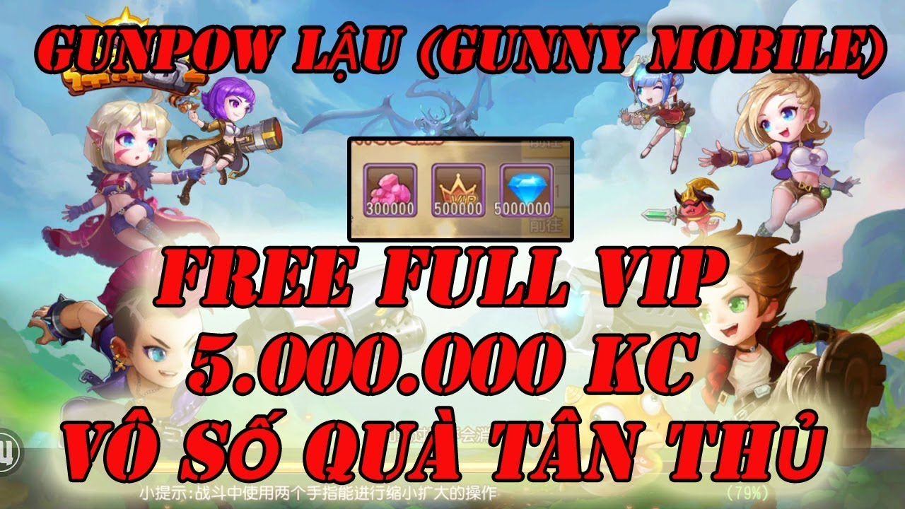 Game Mobile Private | Game GunPow(Gunny Mobile) FREE 5.000.000 KC FULL VIP + Quà GM| Tingame3s
