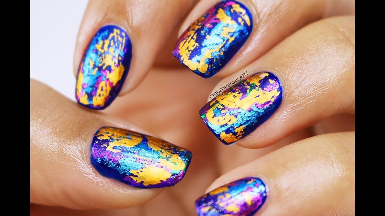 Matte Foil Nail Art