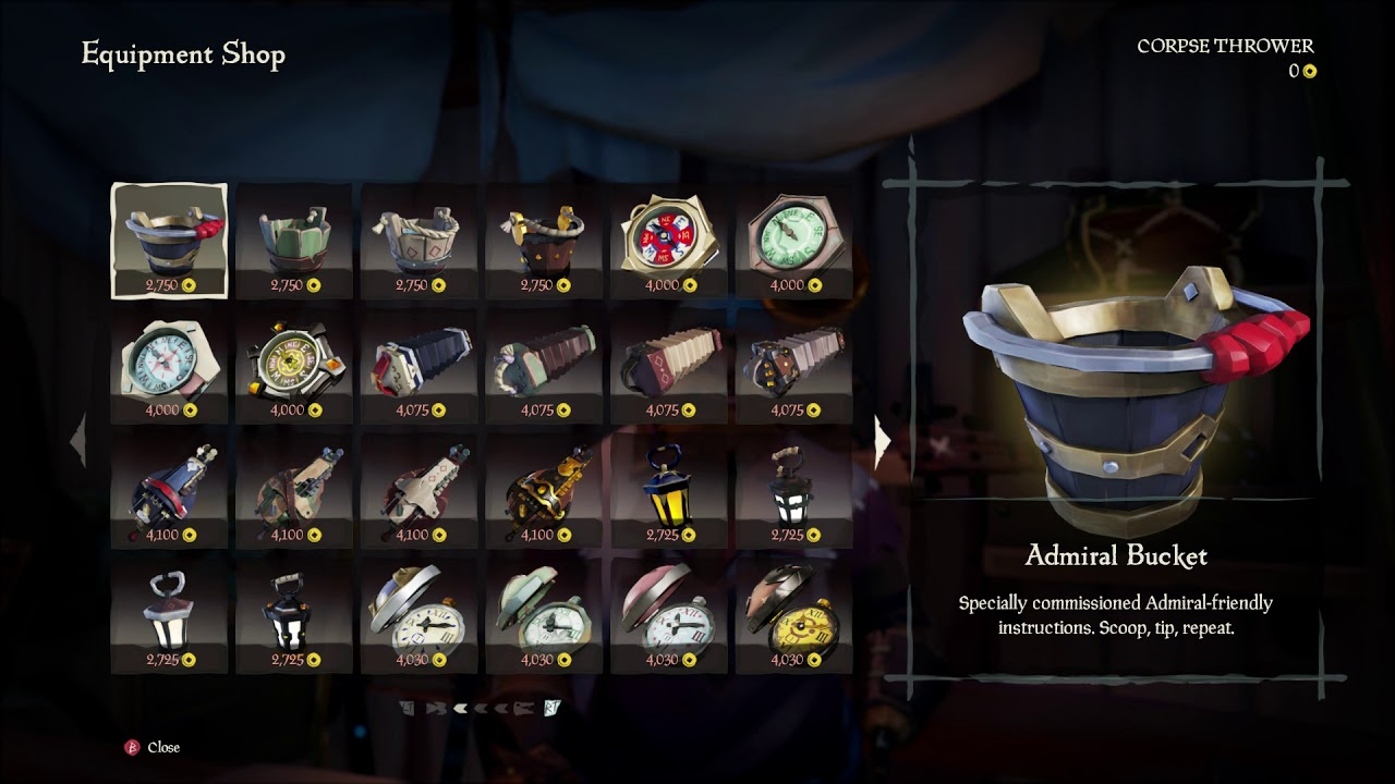 sea of thieves tim equipment shop introduction dialogue use music box 2018 xbox one. Black Bedroom Furniture Sets. Home Design Ideas