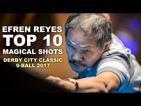 Thumbnail: Efren Reyes TOP 10 NEW MAGICAL SHOTS 2017 [HD] Derby City Classic 9-ball