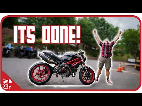 The MONSTER IS FINISHED!!!! [Wrecked Bike Rebuild - Ep. 15 - Ducati Monster 1100]