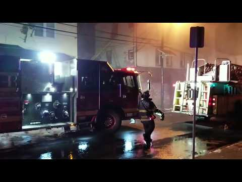 Newark NJ 2nd Alarm/+Signal 9 Building Fire (Lentz Ave) w/Audio 1-17-18