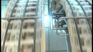 1990s London Newspaper Printing Press, UK Archive Footage