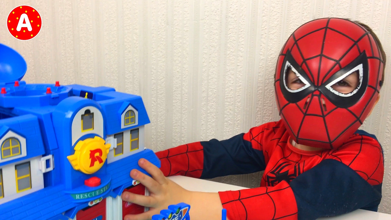 Super h ros spiderman d balle jouet voiture robocar poli youtube - Spiderman voiture ...