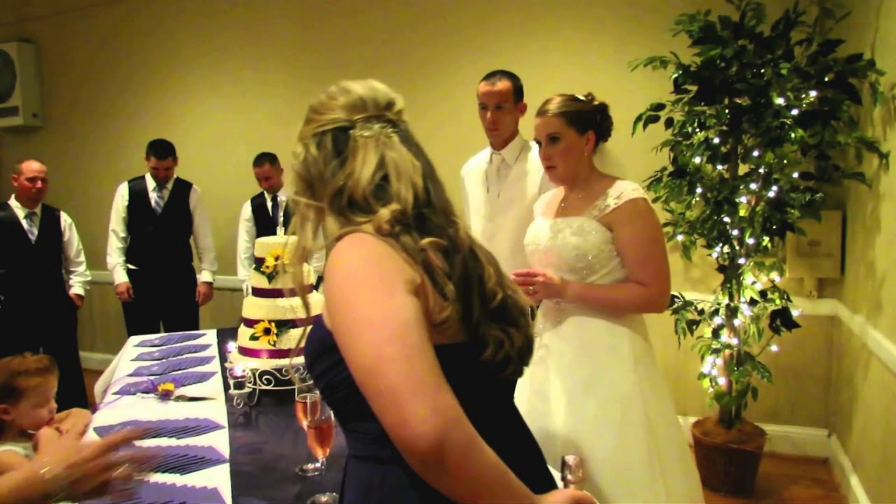 Reception - Cake Cutting and Toasting - YouTube